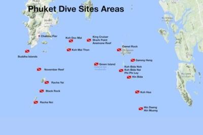 Phuket Dive Sites overview