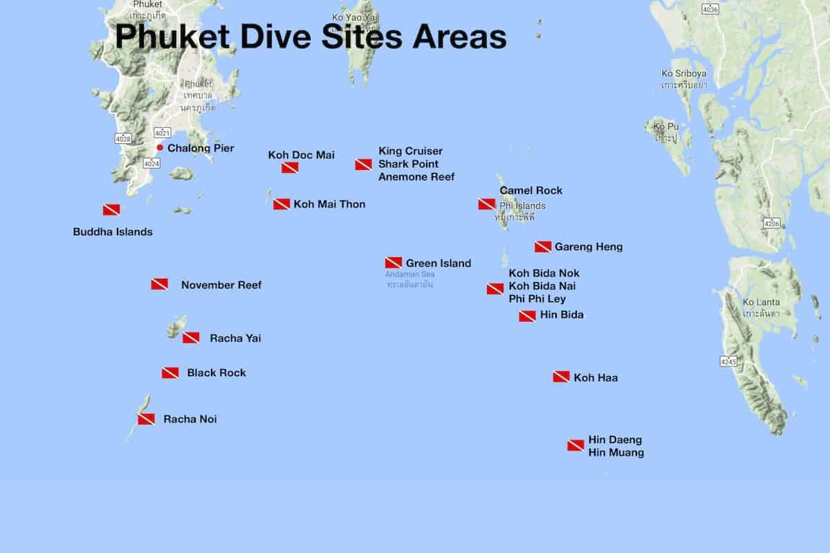Phuket Dive Sites overview