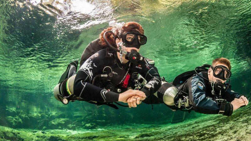 PADI Tec sidemount diving course