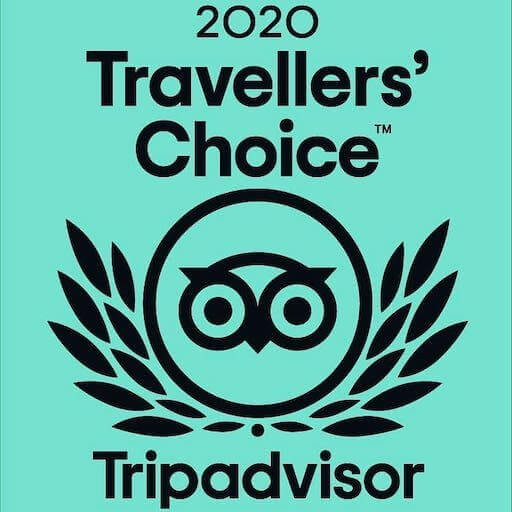 TripAdvisor award certificate of excellence and travellers choice