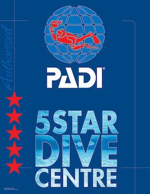 PADI 5 Star dive centre logo